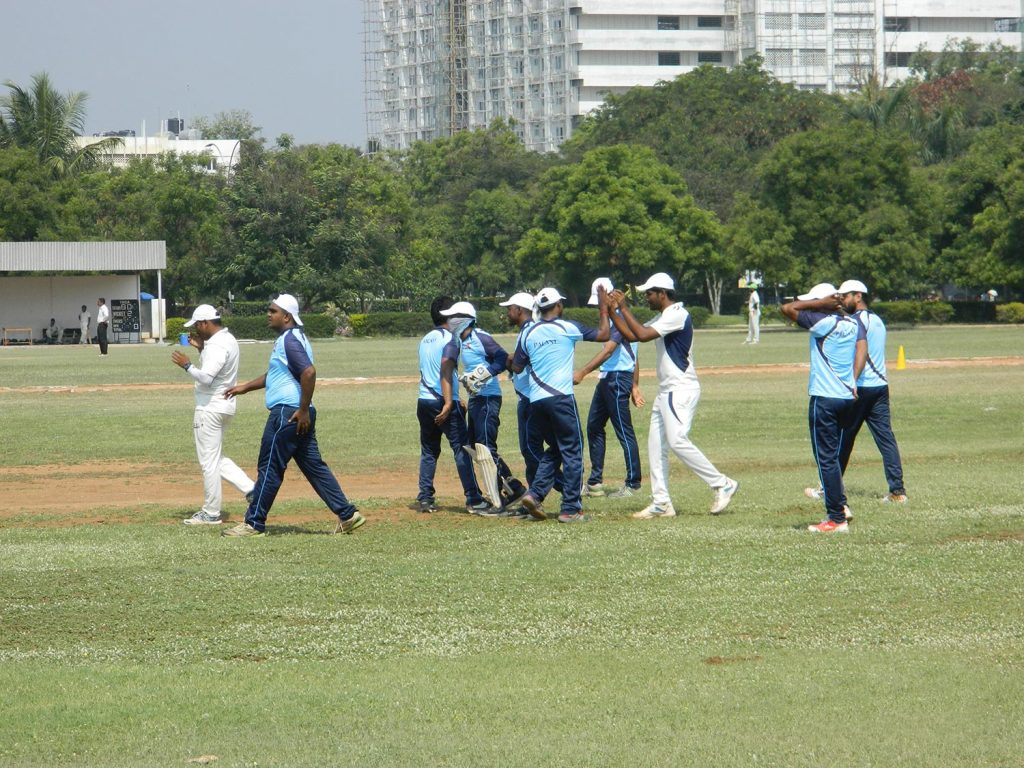 Team HRCC celebrating a wicket!