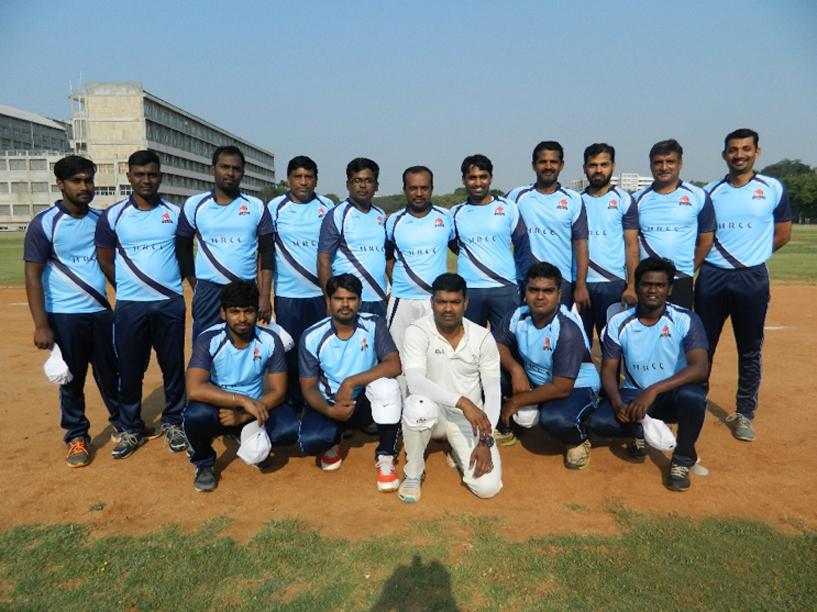 Team HRCC (Hits & Runs Cricket Club) all set for their first tournament.