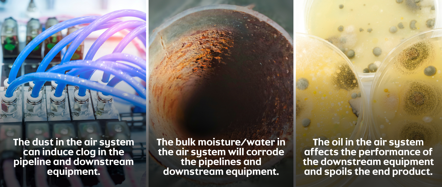 How to remove contaminants from your compressed air system
