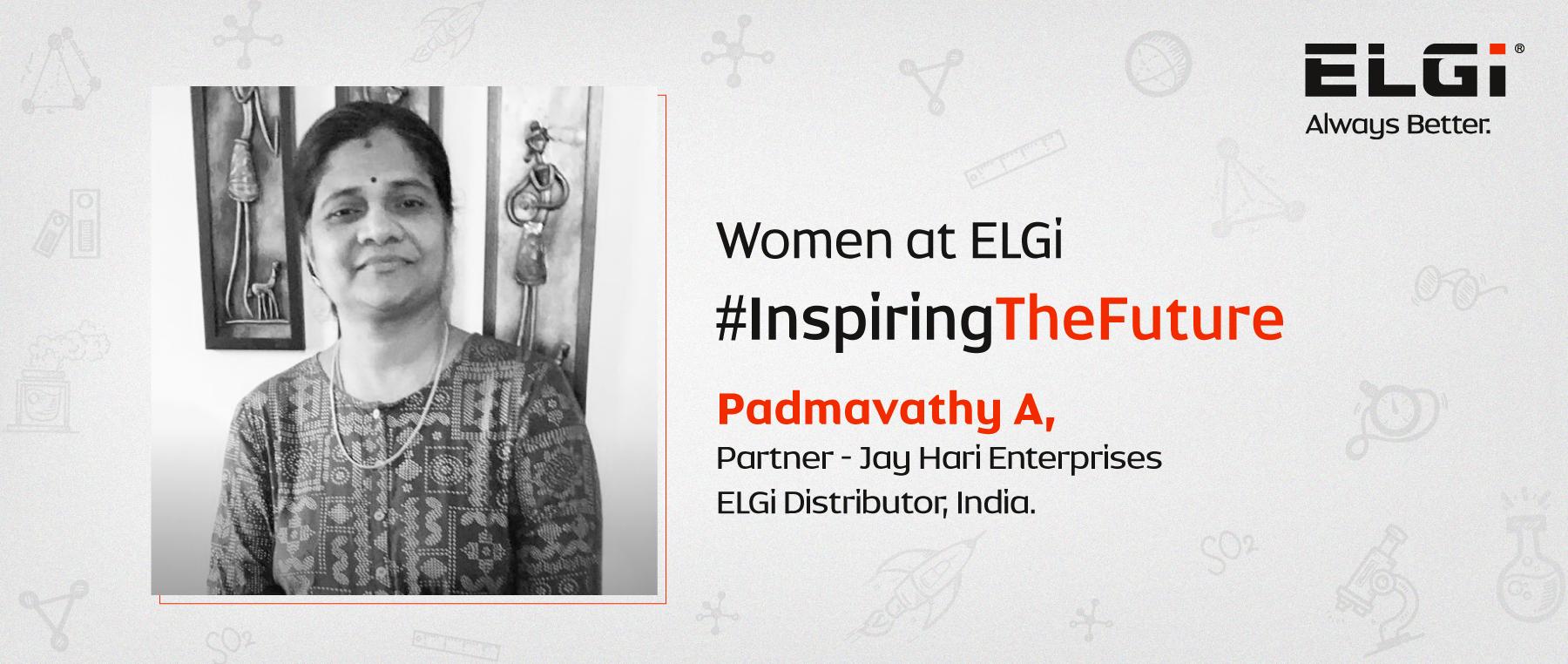 Women at ELGi #InspiringTheFuture – Padmavathy A