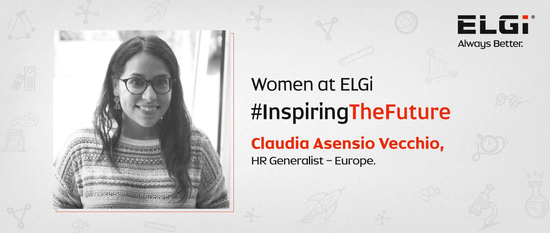 Women at ELGi #InspiringTheFuture – Claudia Asensio Vecchio