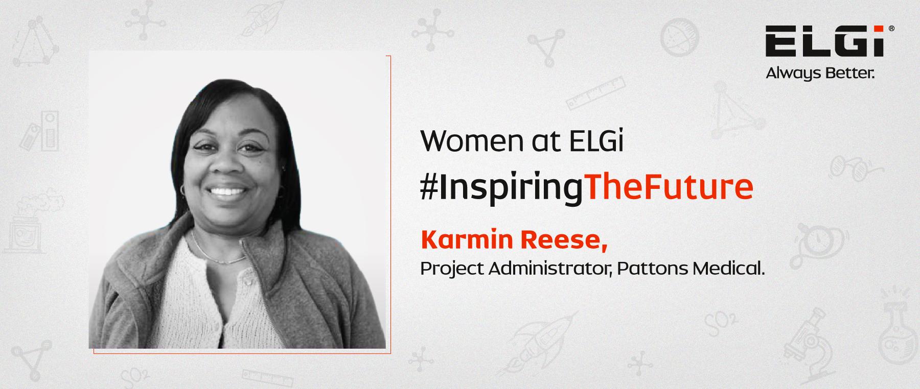 Women at ELGi #InspiringTheFuture – Karmin Reese