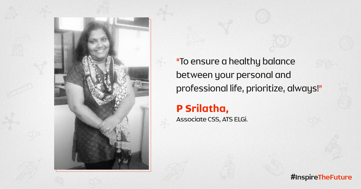 Women at ELGi #InspiringTheFuture – P. Srilatha