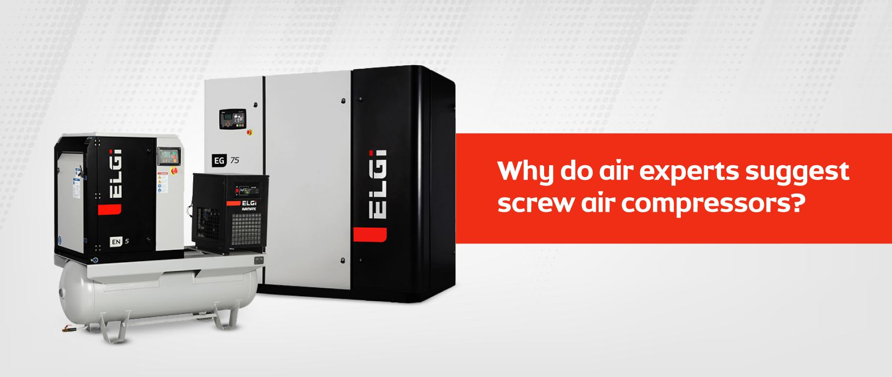 Why do air experts suggest screw air compressors?